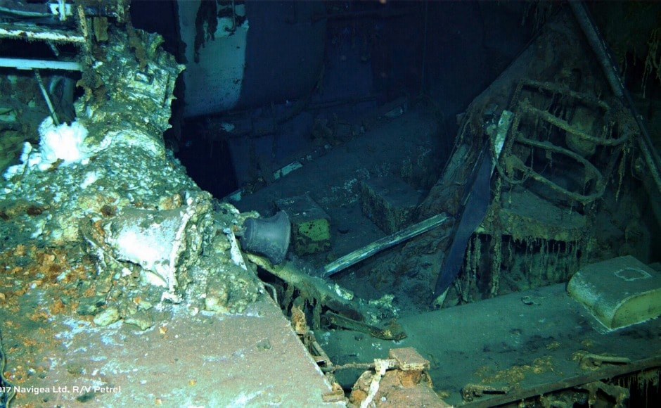 Wreckage of lost warship the USS Indianapolis torpedoed by a Japanese submarine was discovered after 72 years at Philippine Sea. AP