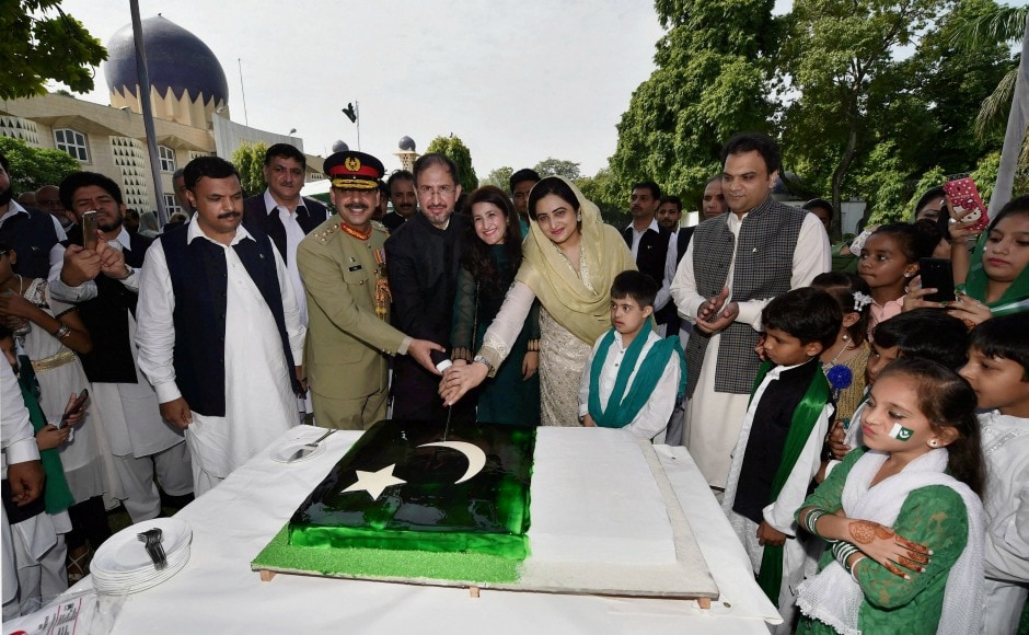 In New Delhi, acting Pakistan high commissioner Syed Haider Shah and his wife Palwasha Haider marked the occasion by cutting a cake at Pakistan High Commission in New Delhi to mark the occasion. PTI