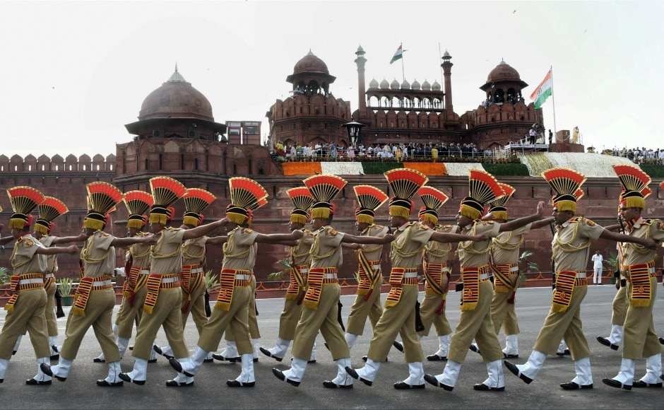 At the function, police jawans marched while National Cadet Corps students from various schools also performed. PTI