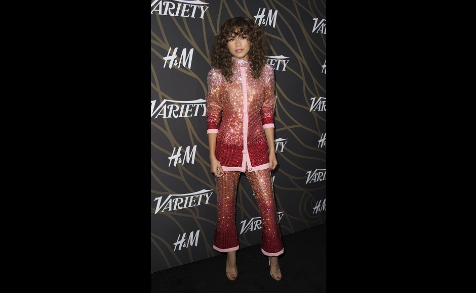 Actress-singer Zendaya, who was praised for her performance in Spider-Man: Homecoming, was honoured, too. Image from AFP.