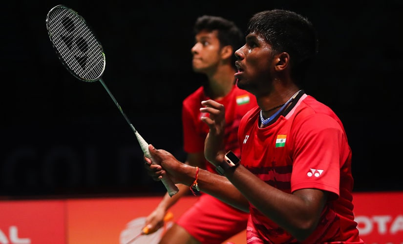 File image of doubles pair Chirag Shetty and Satwiksairaj Rankireddy. AFP