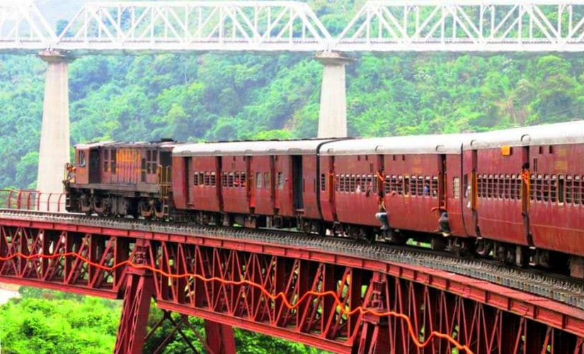 The now defunct Metre Gauge (MG) train on Lumding – Silchar section of North East Frontier Railways. Photo credit: Shardul Shabde