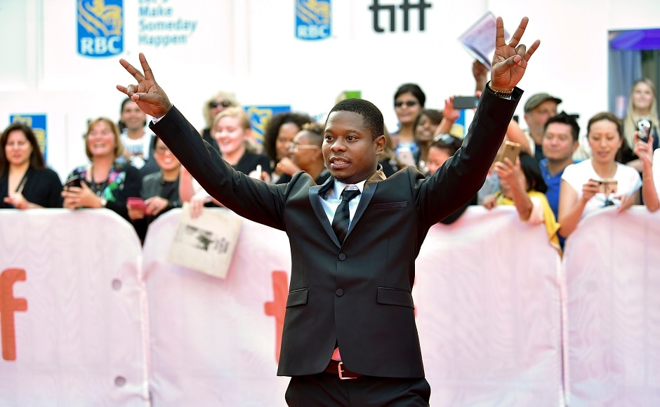 Actor Jason Mitchell attends the premiere for Mudbound on day six of the Toronto International Film Festival on 12 September 2017. Photo by AP