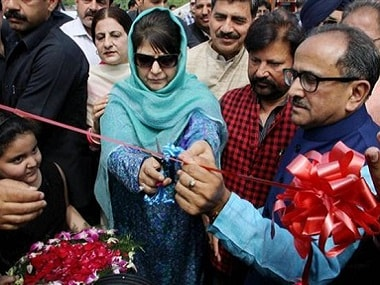 Jammu and Kashmir chief minister Mehbooba Mufti and deputy chief minister Nirmal Singh spar over Hari Singh. PTI