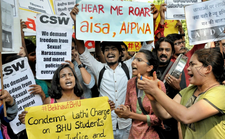 Other student unions like AISA, AIWDA and KYS also held a separate protest at Jantar Mantar on Monday. PTI