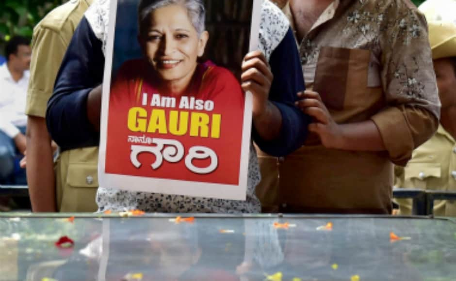 Senior Kannada journalist-activist Gauri Lankesh, known for her left outlook and views against Hindutva politics, was shot dead by unidentified assailants at her residence in Bengaluru on Tuesday. PTI