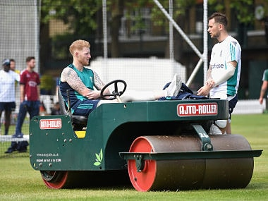 File image of England's Ben Stokes and Alex Hales. Getty