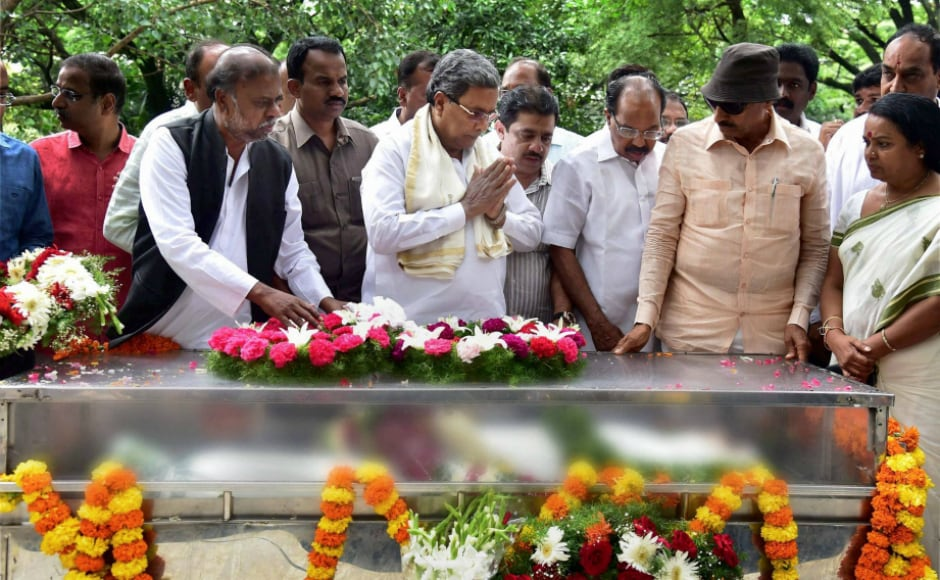 Chief Minister Siddaramaiah termed her death shocking. Siddaramaiah said three police teams have been constituted to probe the killing.<br />He said recently Gauri had been instrumental in bringing Naxalites into the mainstream. PTI