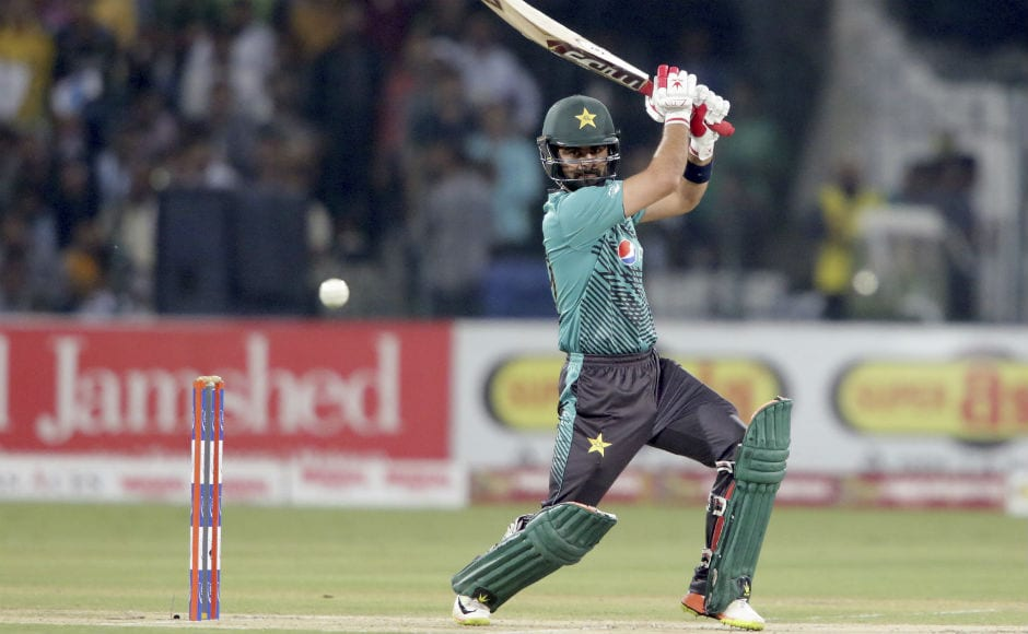 Ahmed Shehzad's blazing 89 off 55 deliveries guided Pakistan to a formidable 183/4. AP