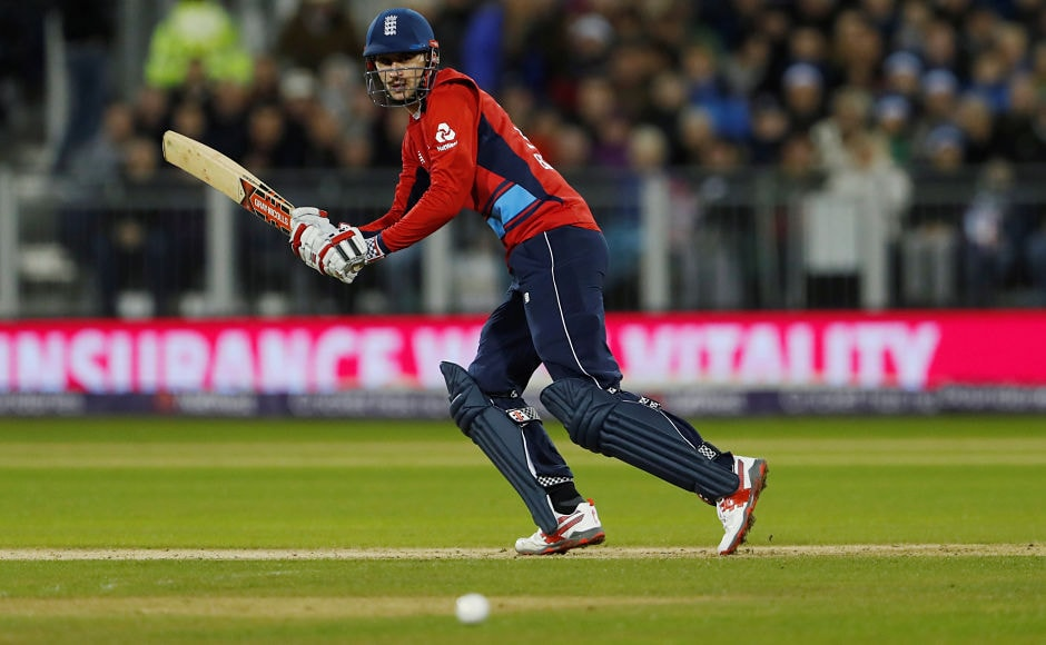 England's Alex Hales wreaked havoc in the first six overs of the chase, smashing 43 at a strike rate of 252.94. But the hosts faltered after his dismissal. Reuters