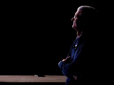 Apple CEO Tim Cook at the iPhone X launch. Reuters