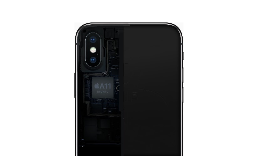 Apple iPhone X is powered by its Hexa-core A11 Bionic chipset along with a neural processing unit. Image: Apple