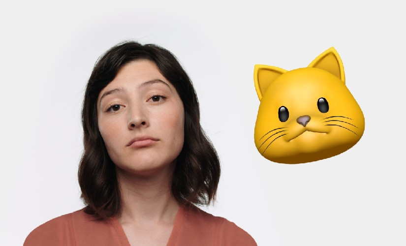 Apple has introduced Animoji that use the front camera to create customised 3D emoji. Image: Apple