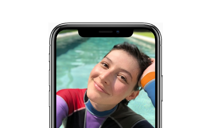 Apple has added 'Portrait lighting' to the camera app. The camera app analyses the scene in real time using machine learning to create the effect. Image: Apple