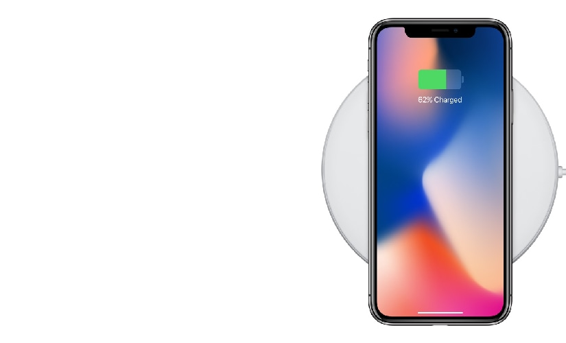 iPhone X packs wireless charging similar to iPhone 8 and 8 Plus because of the glass back. Image: Apple