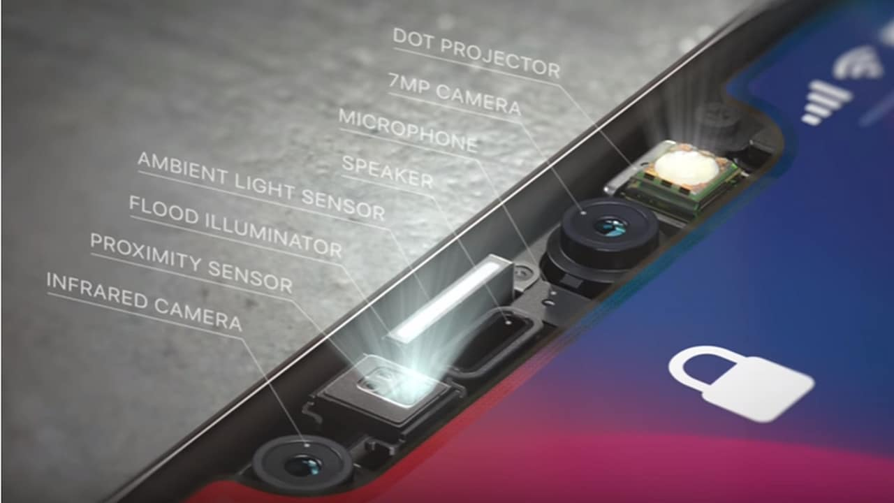 The Trie Depth Camera module brings to life the Face ID feature. Image: Apple