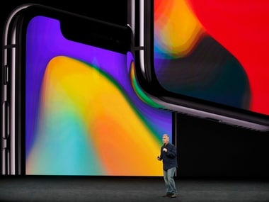 Apple's Schiller introduces the iPhone X during the launch event. Reuters
