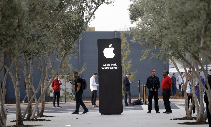 An exterior view of Apple's new visitor center during an announcement of new products. Image: AP Photo