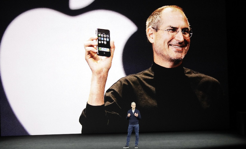 Apple CEO Tim Cook kicked off the event for the new product announcements at the Steve Jobs Theaterby paying homage to the legacy of Steve Jobs. Image: AP Photo