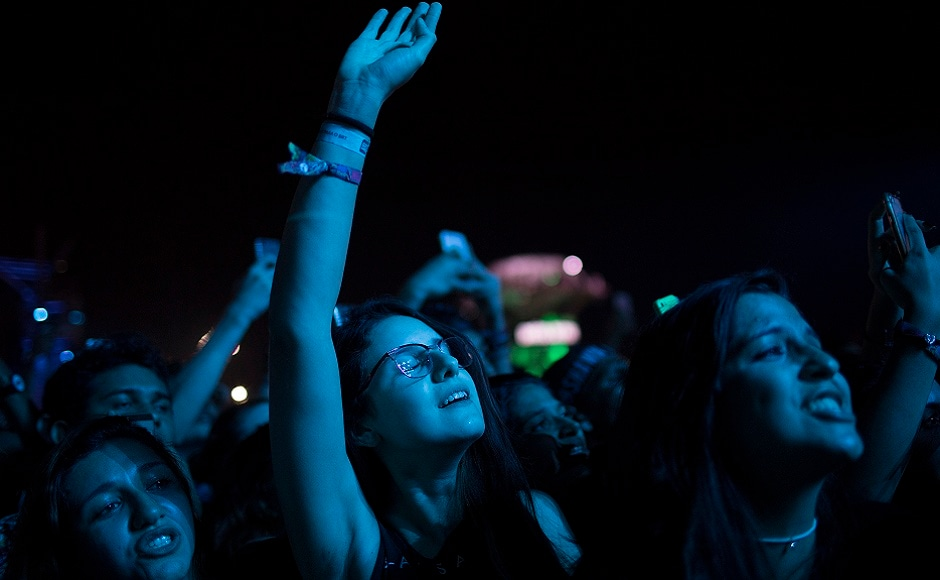 Music fans listen to the performance of Mendes at the Rock in Rio music festival in Rio de Janeiro. Photo courtesy: AP/Leo Correa