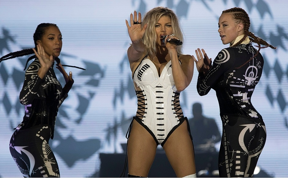 Fergie's songs like 'Big Girls Don't Cry', 'London Bridge', 'Glamorous' have been at the top of the Billboards Top 100 chart. Photo courtesy: AP/Leo Correa