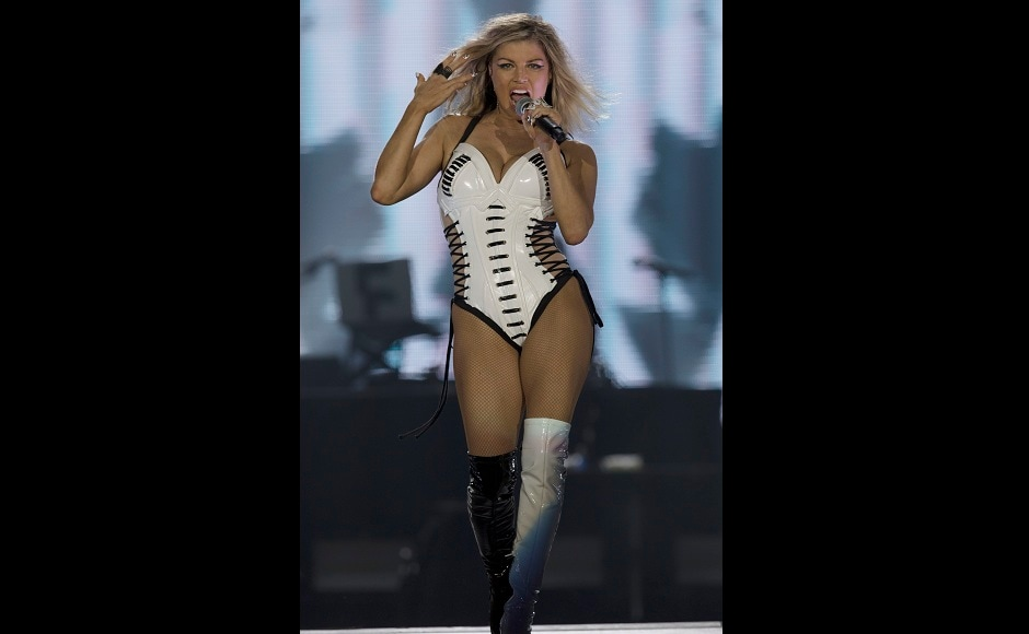 Fergie is the lead singer of the hip hop band named The Black Eyed Peas and has delivered various chart-busters. Photo courtesy: AP/Leo Correa