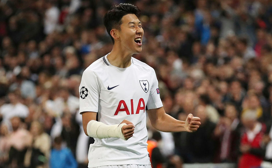 Son Heung-Min opened the scoring for Tottenham Hotspur against Borussia Dortmund at the Wembley Stadium. AP