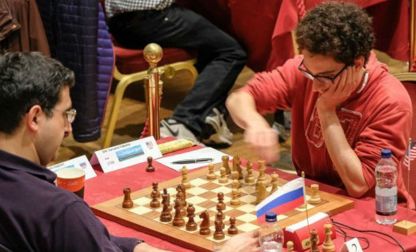 The second and third seeds of a tournament, Vladimir Kramnik and Fabiano Caruana respectively pitted against each other. That is a rare occurrence. John Saunders