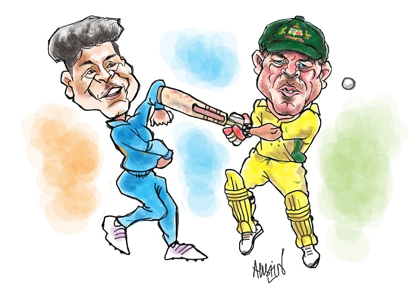 In cricket, sledging's passe; psychological warfare is in. But will it help Team India win in 'away' matches? Illustration courtesy Austin Coutinho