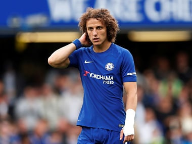 Chelsea's David Luiz was sent off during the Premier League clash against Arsenal. AFP