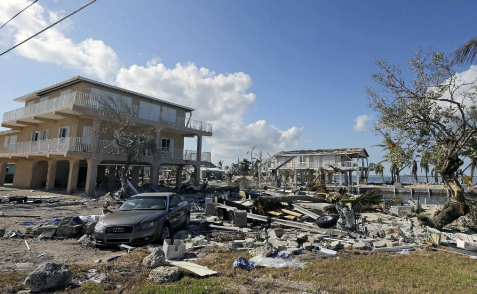 After thrashing several Caribbean islands last week, Hurrican Irma battered Florida, causing flooding and outages that spanned the state. AP