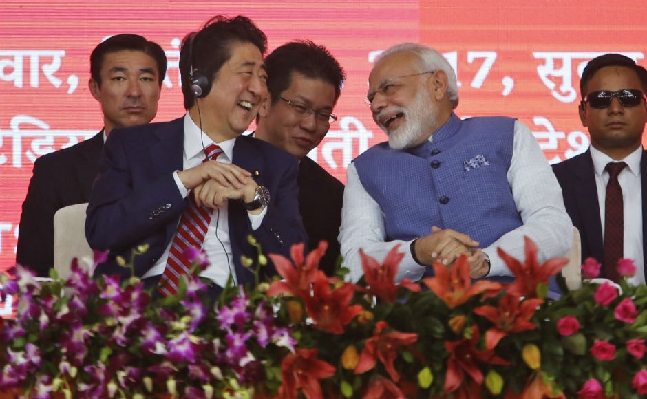 Prime Minister Narendra Modi and Japanese prime minister Shinzo Abe on Thursday laid the foundation stone for the ambitious Rs 1.08 lakh crore ($17 billion) 508-km Ahmedabad-Mumbai High Speed Rail in Ahmedabad. AP