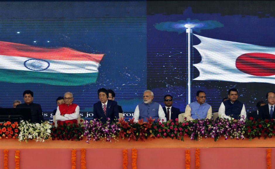 Narendra Modi said that next-generation growth will take place only where there are high-speed corridors. 'We hope that in 2022, Shinzo Abe and I take a ride in the bullet train together,' the prime minister added. AP