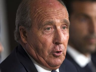 Italy's coach Giampiero Ventura talks to journalists during a news conference at the Santiago Bernabeu stadium in Madrid, Friday, Sept. 1, 2017. Italy will play a World Cup Group G qualifying soccer match against Spain on Saturday 2. (AP Photo/Francisco Seco)