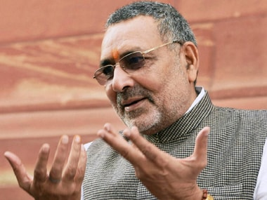 File image of union minister Giriraj Singh. PTI