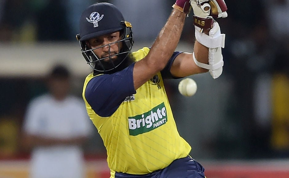 World XI opener Hashim Amla produced a scintillating unbeaten innings of 72 off 55 balls. AFP