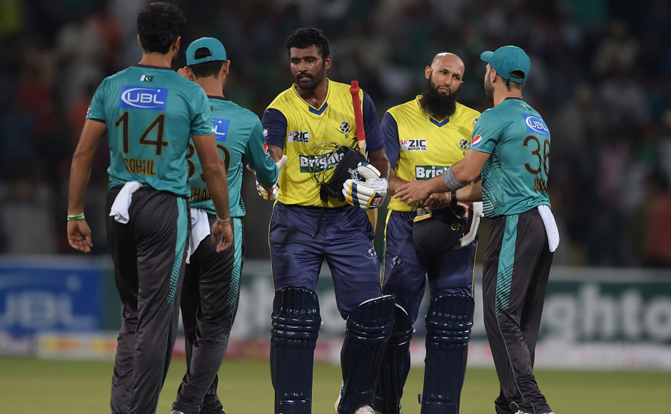 World XI batsmen Hashim Amla and Thisara Perera starred in 2nd T20I taking visitors home in the last-over thriller. AFP