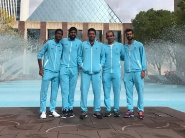 File image of Indian Davis Cup team. Image courtesy: Twitter @DavisCup