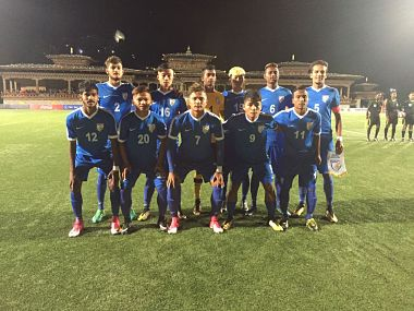 India's U-18 football team. Image Courtesy: Twitter @IndianFootball