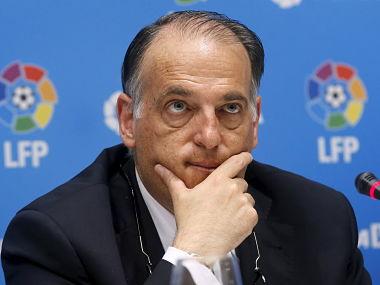 File image of Javier Tebas. Reuters