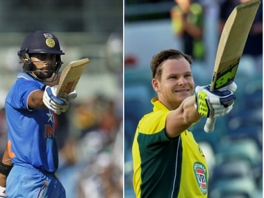 India captain Virat Kohli (L) and Australia captain Steve Smith (R). AFP