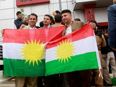 A file image of Kurdish supporters. Reuters