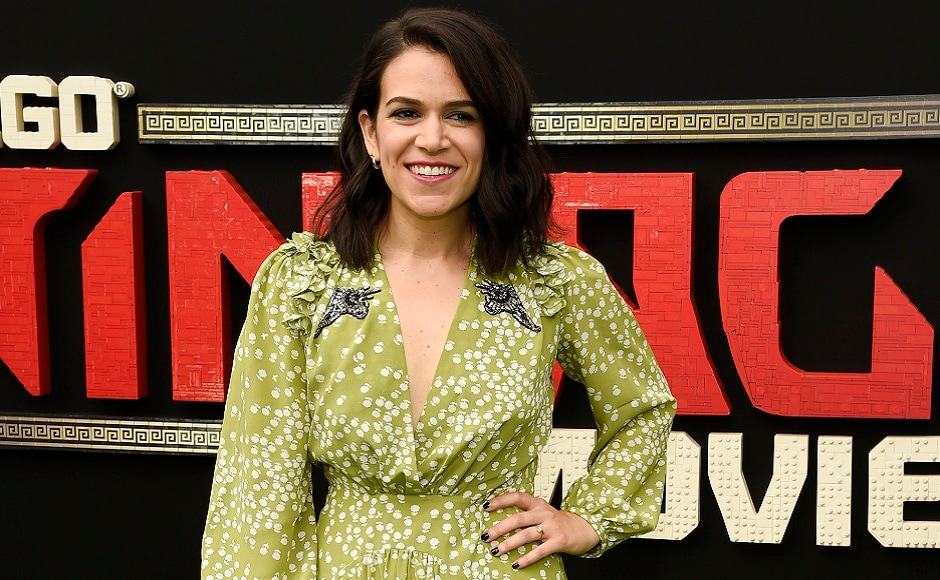 Abbi Jacobson, poses for the photographers at the premiere of The Lego Ninjago Movie in Los Angeles. Photo courtesy: AP/Chris Pizzello