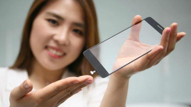 LG Innotek underglass fingerprint scanner.