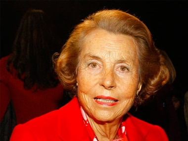 File image of Liliane Bettencourt. AP