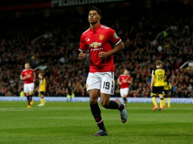 File image of Manchester United's Marcus Rashford. Reuters