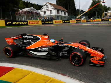 McLaren's Fernando Alonso in action during a practice session. Reuters