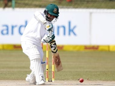 Mominul Haque leads the fightback for Bangladesh against South Africa on Day 3. Twitter @ICC