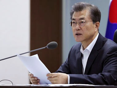 File image of South Korean president Moon Jae-in. AP