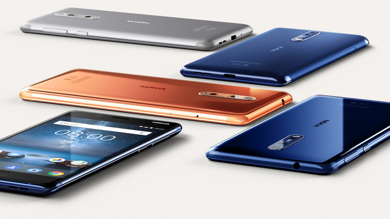 The Nokia 8 was launched in four finishes